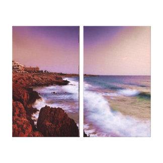 Coastal Waves Stretched Canvas Print
