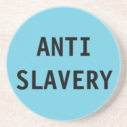 Coaster Anti Slavery Turquois Blue