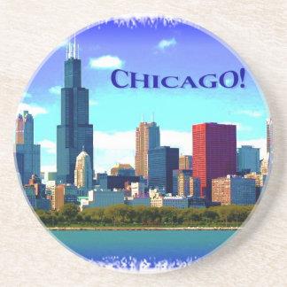 coaster Chicago skyline