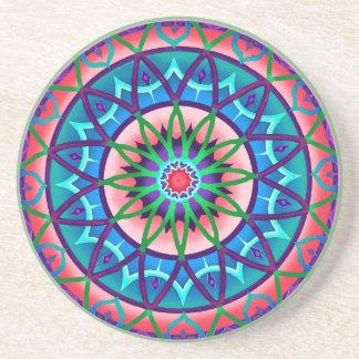 Coaster Circular Fantasy in Blue and Purple