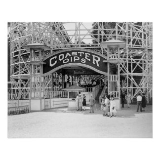 Coaster Dips: 1909 Poster