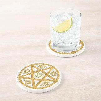 Coaster - Gold Pentacle & Holly & Oak