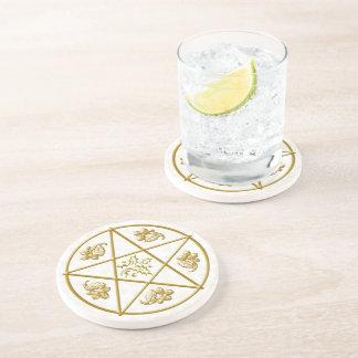 Coaster - Gold Pentacle & Holly & Oak #2