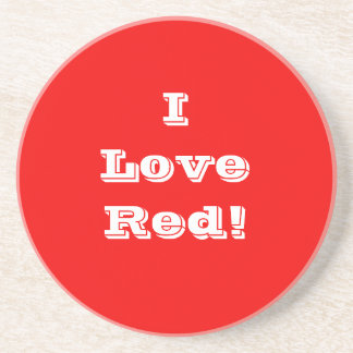 Coaster I Love Red