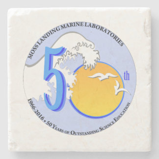 Coaster (Marble Stone): MLML 50th wave/sun Stone Coaster