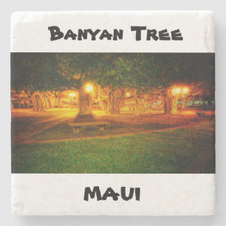 Coaster of Banyan tree in maui, hawaii Stone Coaster
