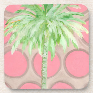 Coaster Pink Polka Dot Palm Tree
