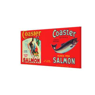 Coaster Salmon Label Gallery Wrap Canvas