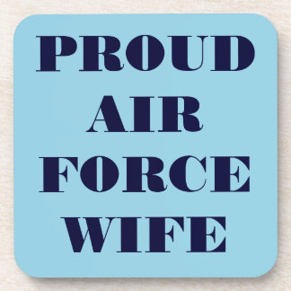 Coaster Set Proud Air Force Wife
