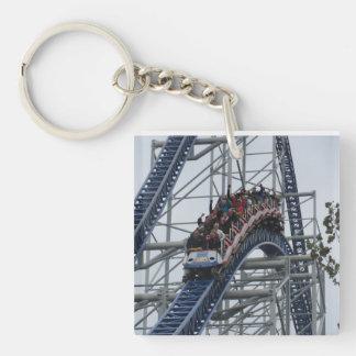 Coaster Thrills Single-Sided Square Acrylic Key Ring