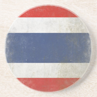 Coaster with Distressed Thailand Flag