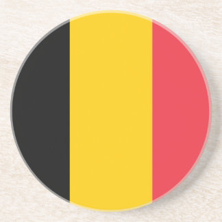 Coaster with Flag of Belgium