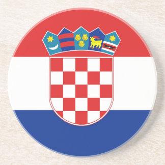 Coaster with Flag of Croatia