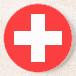 Coaster with Flag of Switzerland