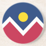 Coaster with Flag of the Denver, Colorado, USA