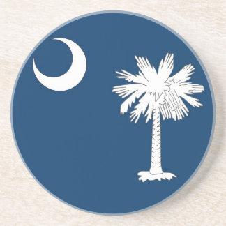 Coaster with Flag of the South Carolina, USA