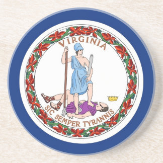 Coaster with Flag of the Virginia, USA