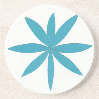 Coaster with Turquoise Star Design