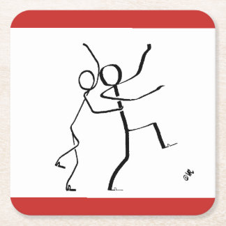 Coaster with two Conga dancers