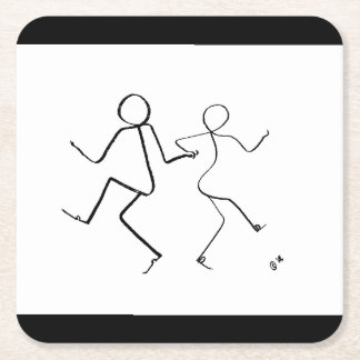 Coaster with two Lindy Hop dancers