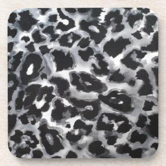 COASTERcork - BlackGrayWhite animal print Drink Coaster