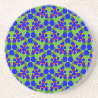 Coasters Blue Green Red Balls Design