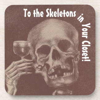 Coasters Fun Toasting Skeletons in Your Closet
