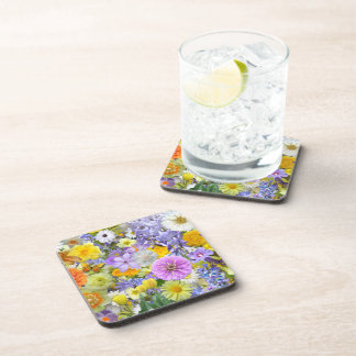 Coasters - Hard Plastic - Flowers and Butterflies