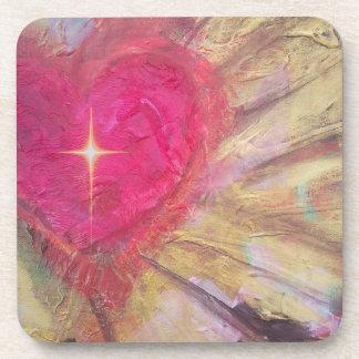 Coasters- Heart with cross Coaster