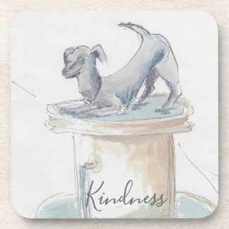 """Coasters """"London/Dog Watercolor Sketch """""""