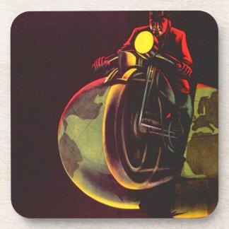 Coasters Motorcycle Split Planet Slicer Vintage Ad