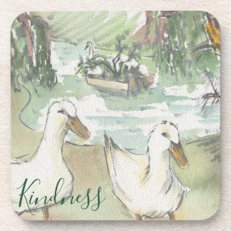 """Coasters """"Paris, Ducks Watercolor """""""