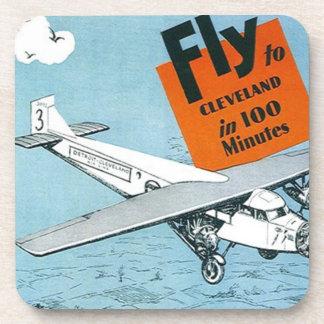 Coasters Vintage Advertising Aviation Aircraft Air
