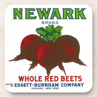 Coasters Vintage Advertising Can Label Red Beets