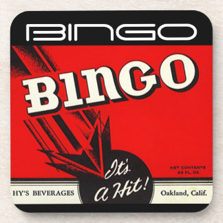 Coasters Vintage Bingo Beverage It's A Hit! Advert