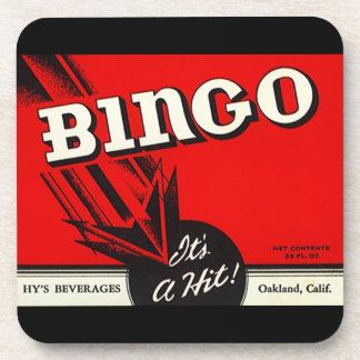 Coasters Vintage Bingo Beverage Label It's a Hit!