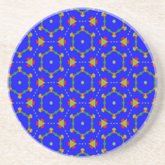 Coasters with Blue August Design