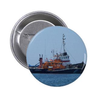 Coastguard Boat And Tug Boat Pinback Button