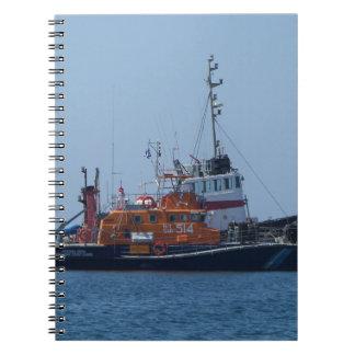 Coastguard Boat And Tug Boat Notebooks