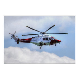 Coastguard Helicopter Poster