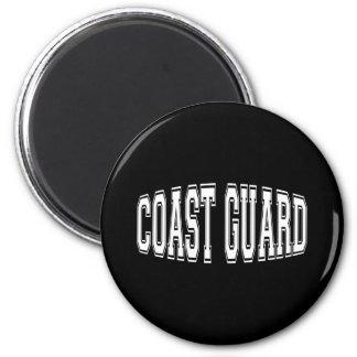 coastguardbulgeblk 6 cm round magnet