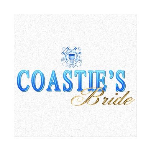 Coastie's Bride Stretched Canvas Print