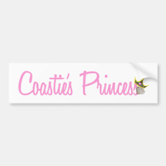 Coastie's Princess Bumper Sticker