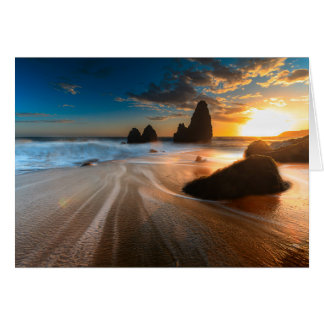 Coastline At Sunset | Northern California Greeting Card