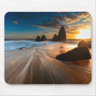 Coastline At Sunset | Northern California Mouse Pad
