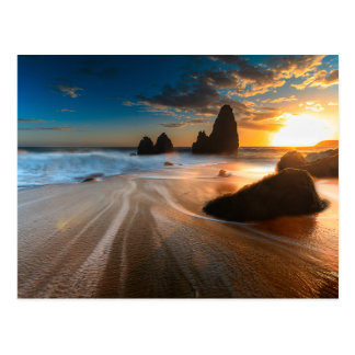 Coastline At Sunset | Northern California Postcard