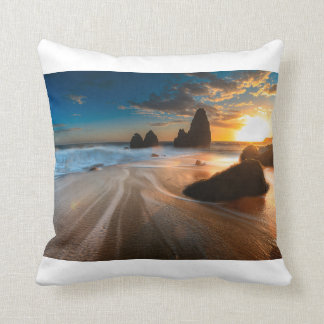 Coastline At Sunset | Northern California Throw Cushions
