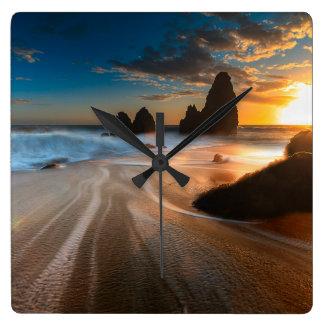 Coastline At Sunset | Northern California Wallclock