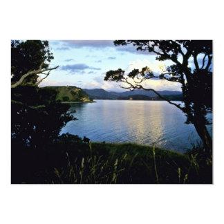 Coastline, Bay Of Islands, North Island 13 Cm X 18 Cm Invitation Card