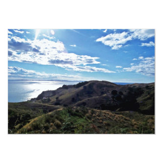 Coastline, Cormandel Peninsula, North Island 13 Cm X 18 Cm Invitation Card